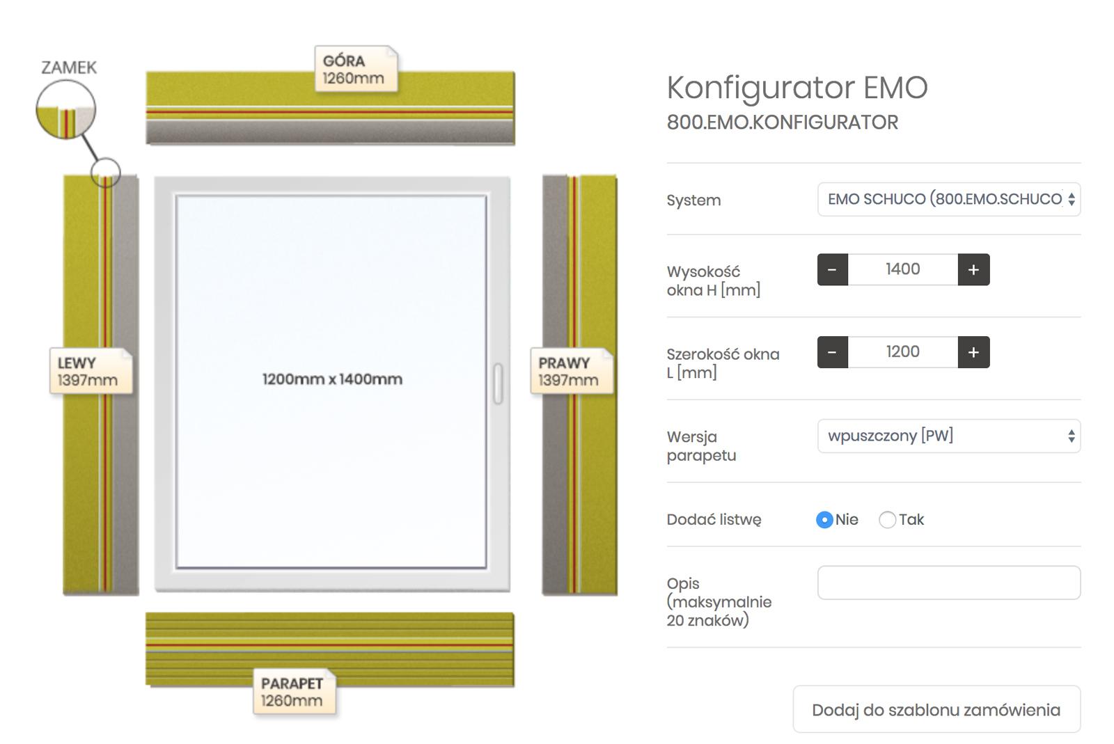 Konfigurator okna